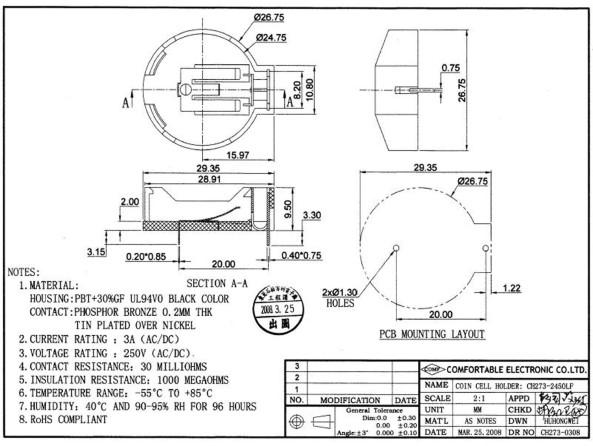 LIR2450 Battery holder chiosz robots 4
