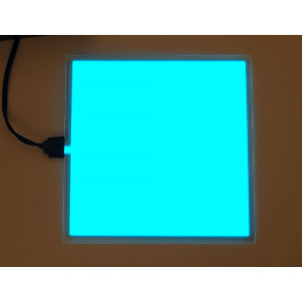 El panel light blue neon light board chiosz robots