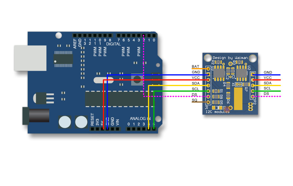 Module I2C RTC DS1307 Real Time Clock, AT24C32 storage