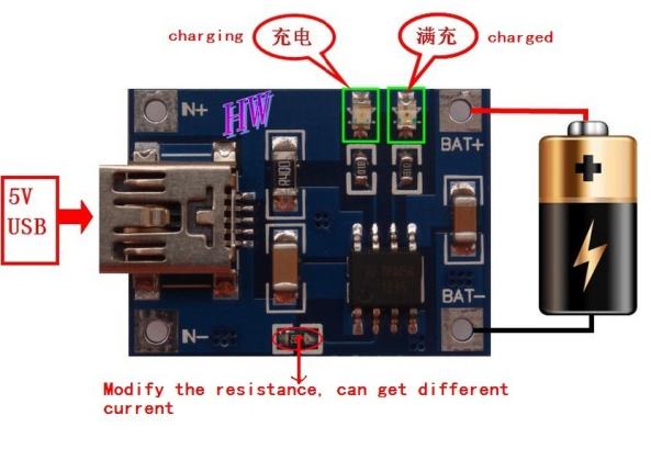 lithium charger 1A chiosz robots