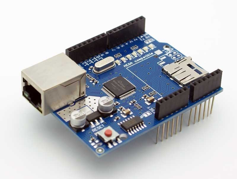 Ethernet shield w for arduino board uno mega r