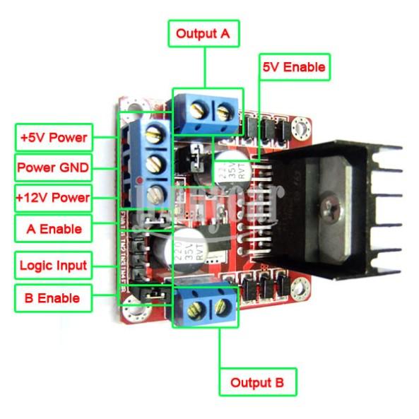 L298n driver motor small chiosz robots 5