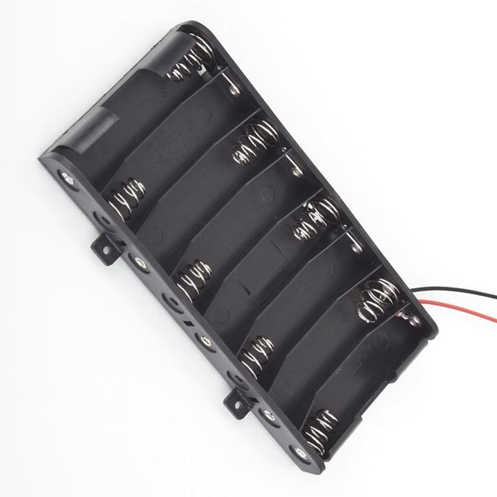 Battery Box Slot Holder Case For 8 Packs Aa Battery