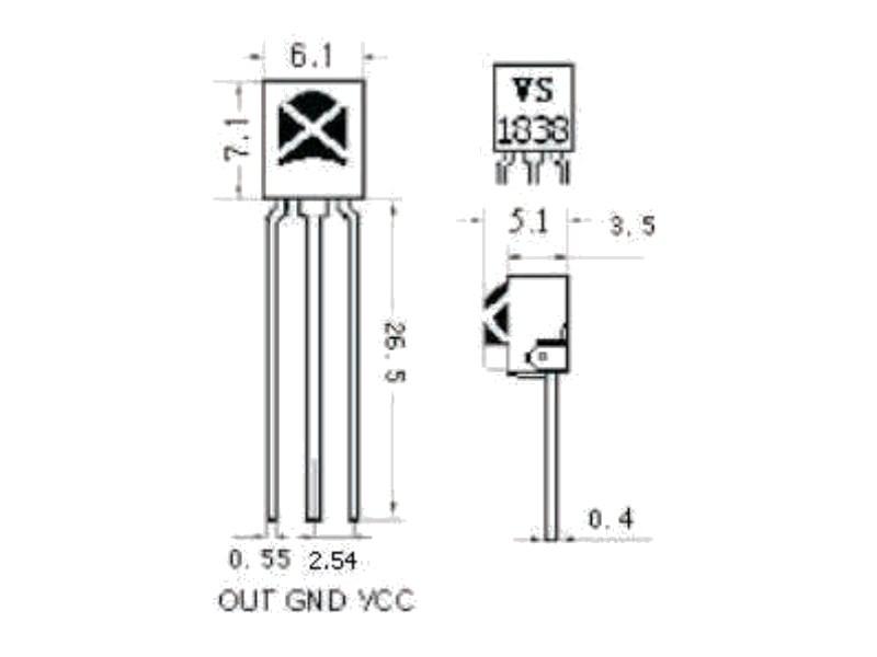 10X Universal Integration IR Infrarot Control Receiver TL1838 VS1838B Kopf LA WO