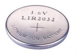 LIR2032 battery rechargeable chiosz robots