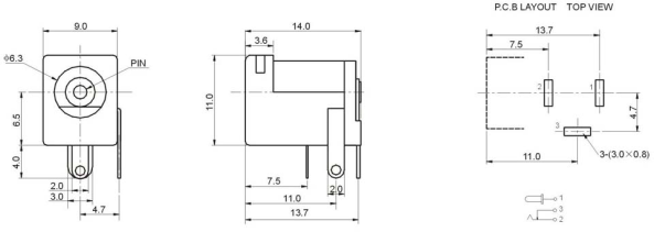 plug outlet 2.1mm chiosz robots
