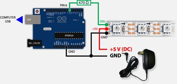 led addressable WS2812 chiosz robots 5