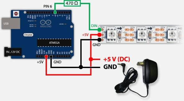 led addressable WS2812 chiosz robots 6