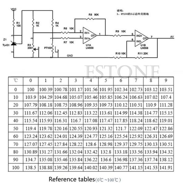 temperature probe PT100 chiosz robots 8