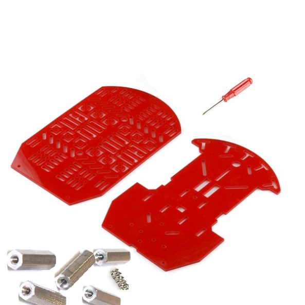 Chassis plastic double red chiosz robots 2