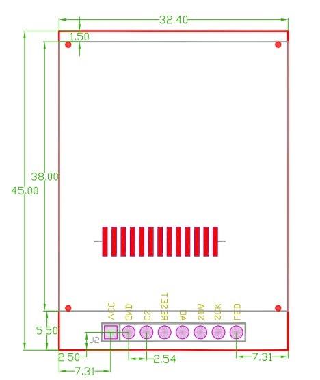 screen 1.44 TFT LCD chiosz robots 3j