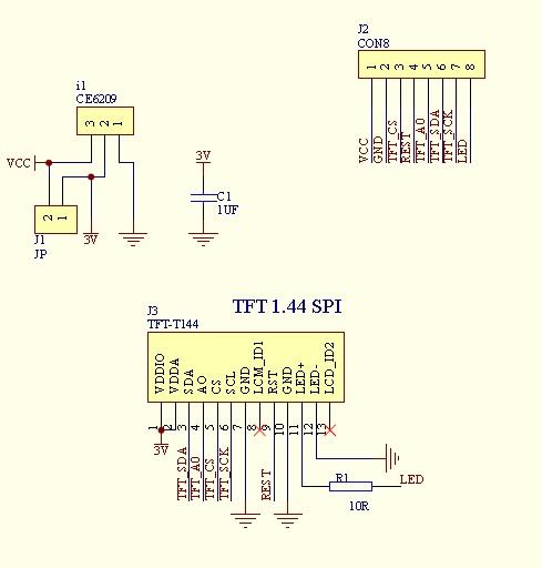 screen 1.44 TFT LCD chiosz robots 4j