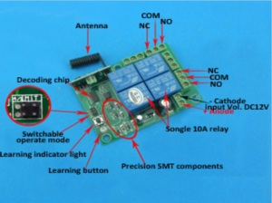 relay wireless 4 315mhz chiosz robots 4