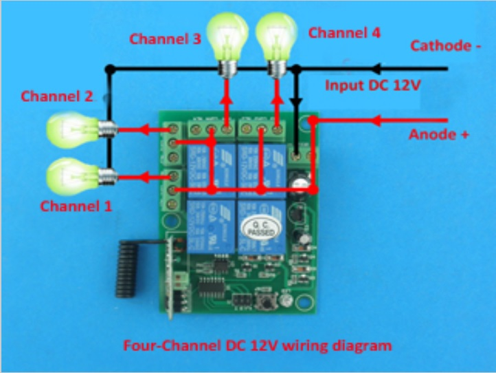 Relay Wireless 4 315mhz Chiosz Robots 5: 4 Channel Momentary Remote Wiring Diagram At Eklablog.co