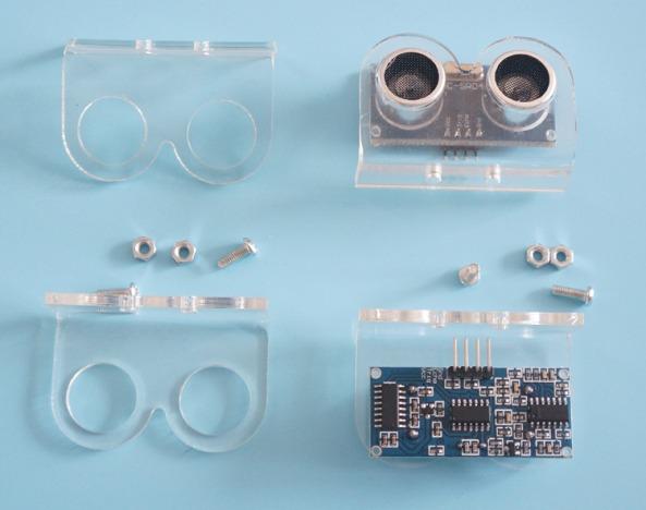 mounting sensor HCSR04 chiosz robots 4