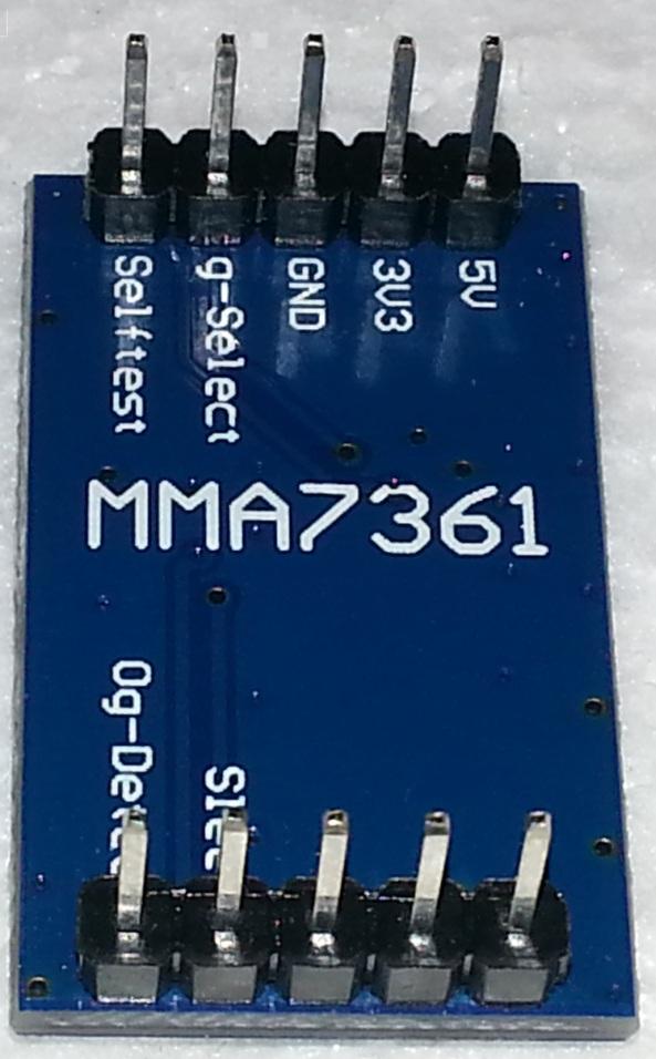 Accelerometer MMA7361 angle sensor chiosz robots 1