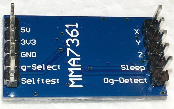 Accelerometer MMA7361 angle sensor chiosz robots 2
