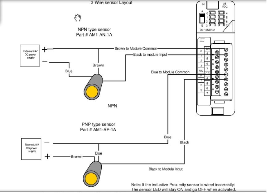 Proximity Switch Wiring Schematic