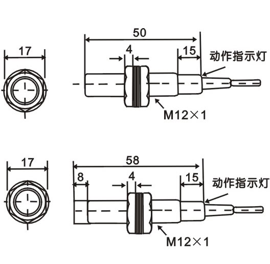 lj12a3 bx inductive proximity sensor switch npn dc6
