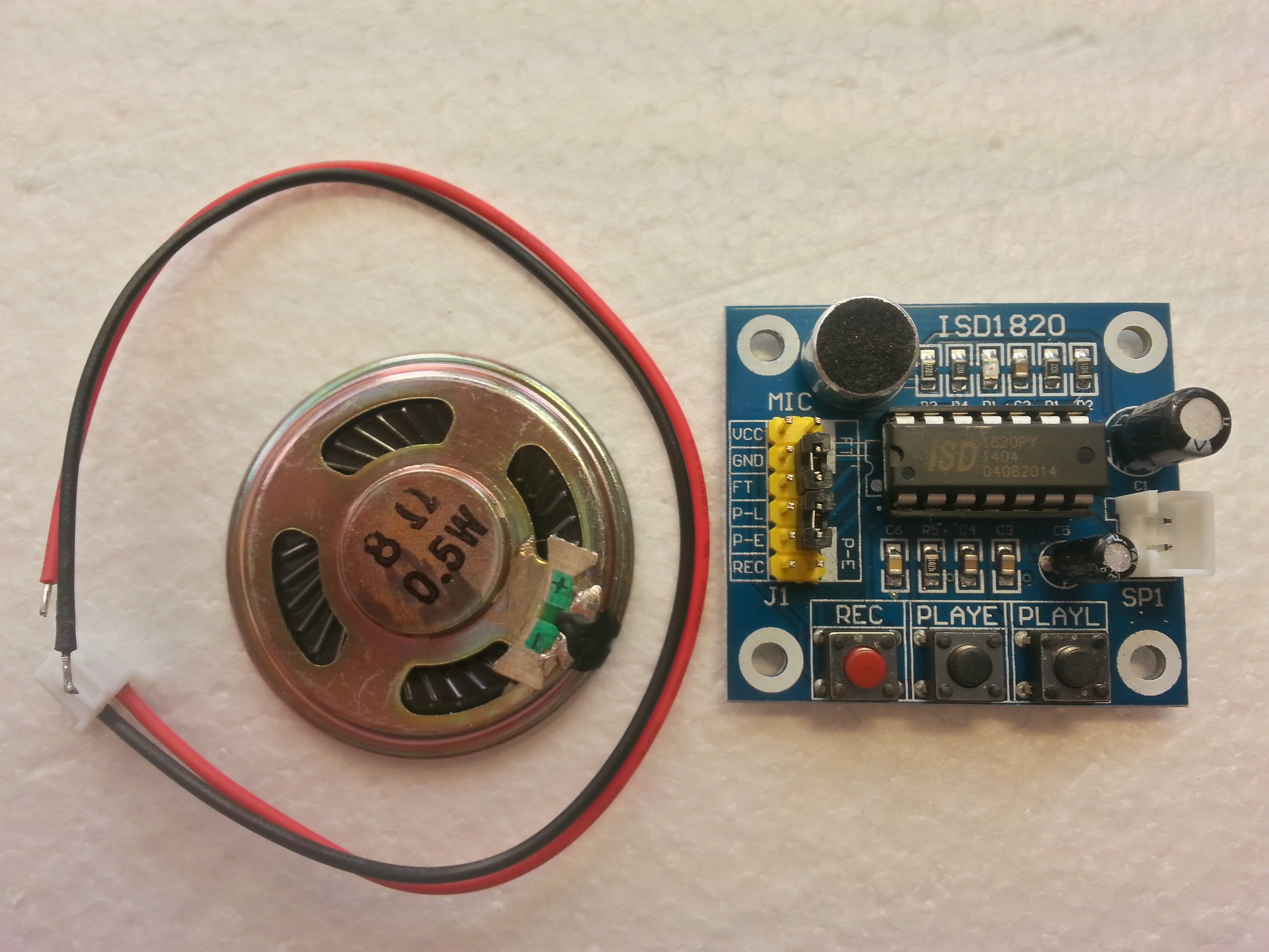 Isd1820 Sound Voice Recording Playback Module With Mic Audio Recorder Circuit Record Chiosz Robots