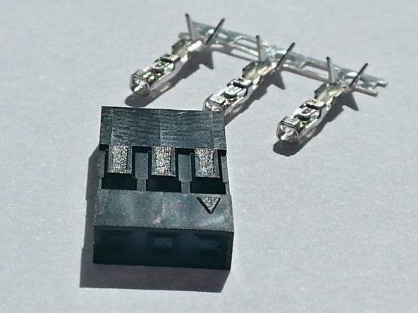 connector 2.54mm 3p female chiosz robots 3
