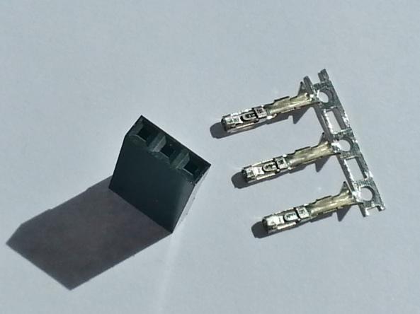 connector 2.54mm 3p female chiosz robots