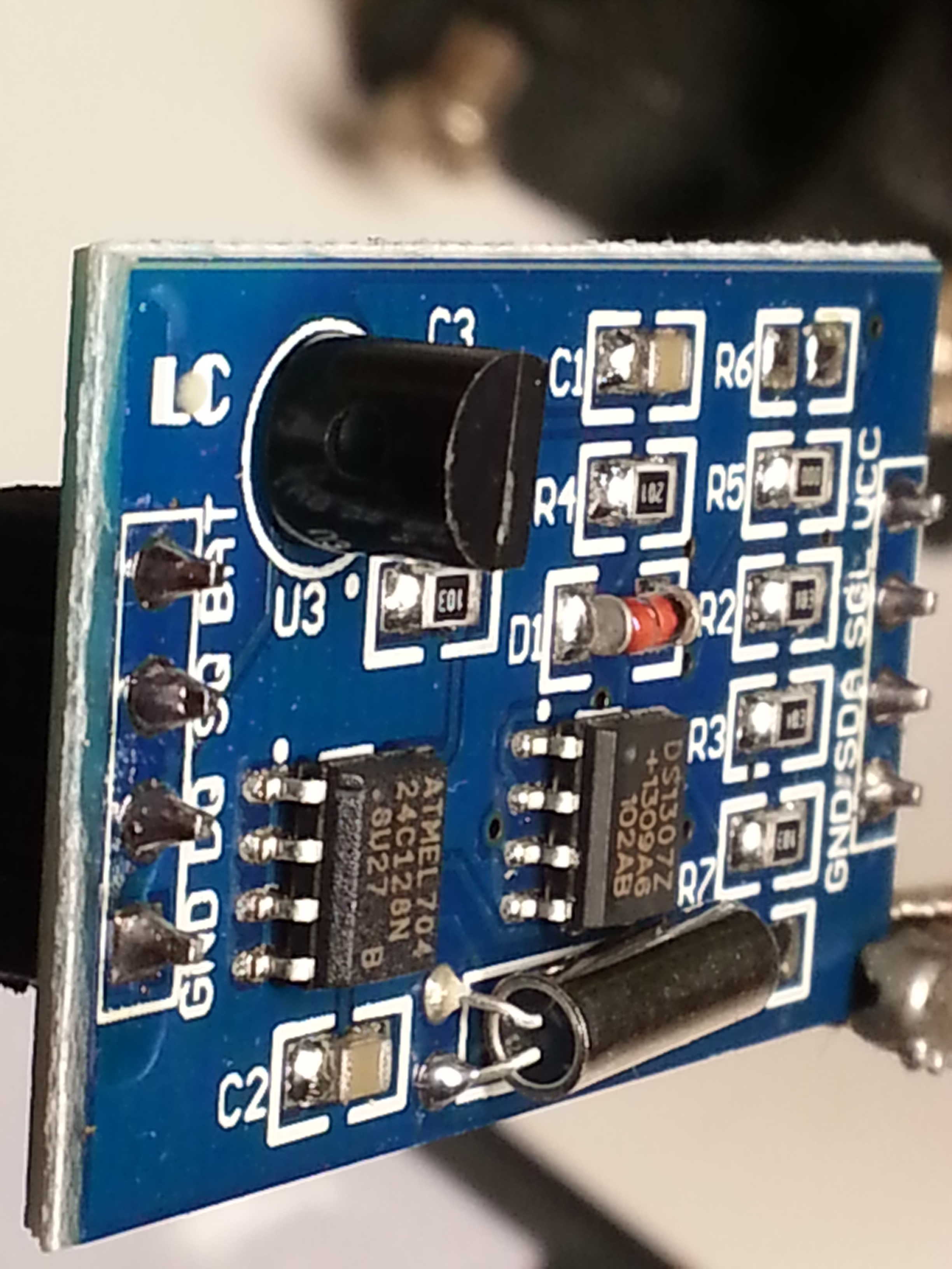 Ds1307 Real Time Clock At24c128 Storage Ds18b20 Temperature Sensor Ds1307realtimeclockschematic Rtc Temp Cr1220 Chiosz Robots 1