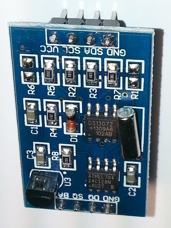 DS1307 RTC temp CR1220 chiosz robots 3