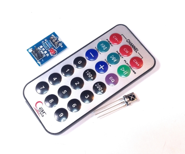infrared kit remote control receiver chiosz robots