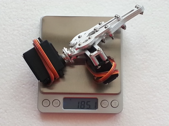 Claw 2servo MG995 chiosz robots 14
