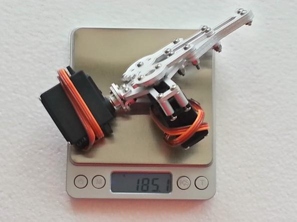 Claw 2servo MG995 chiosz robots 15