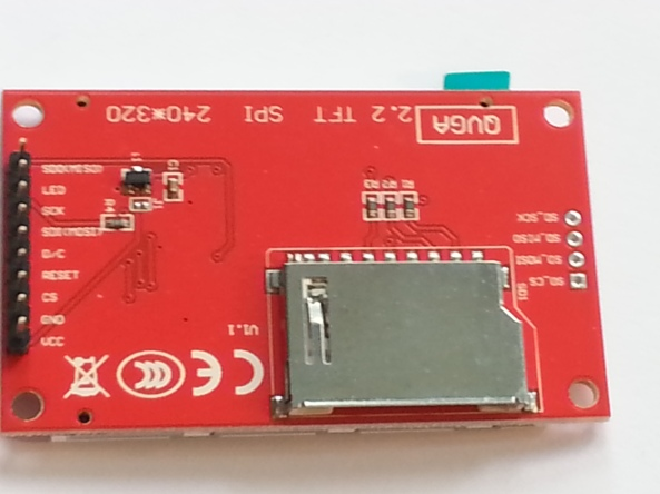 LCD QVGA 2,2 chiosz robots 2
