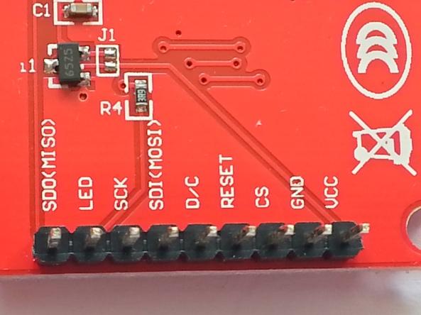 LCD QVGA 2,2 chiosz robots 3