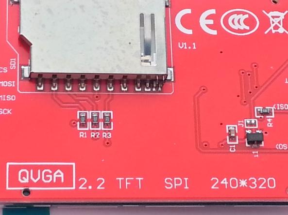LCD QVGA 2,2 chiosz robots 5