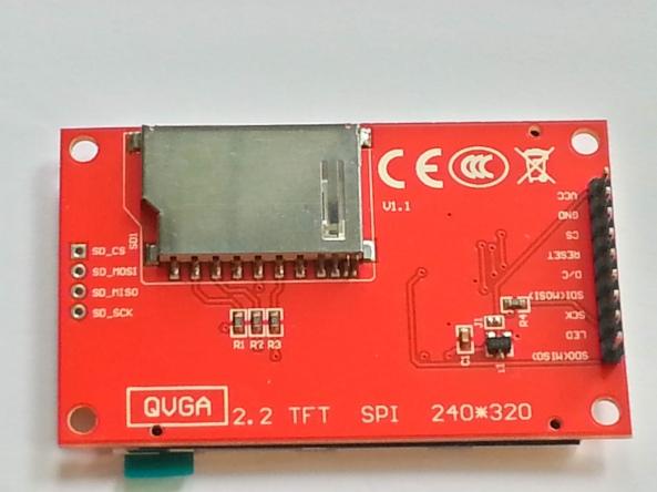 LCD QVGA 2,2 chiosz robots